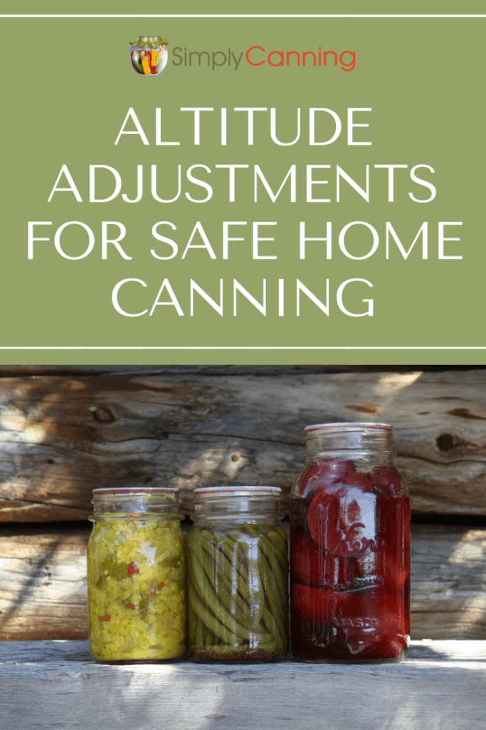 Altitude Adjustments for Home Canning