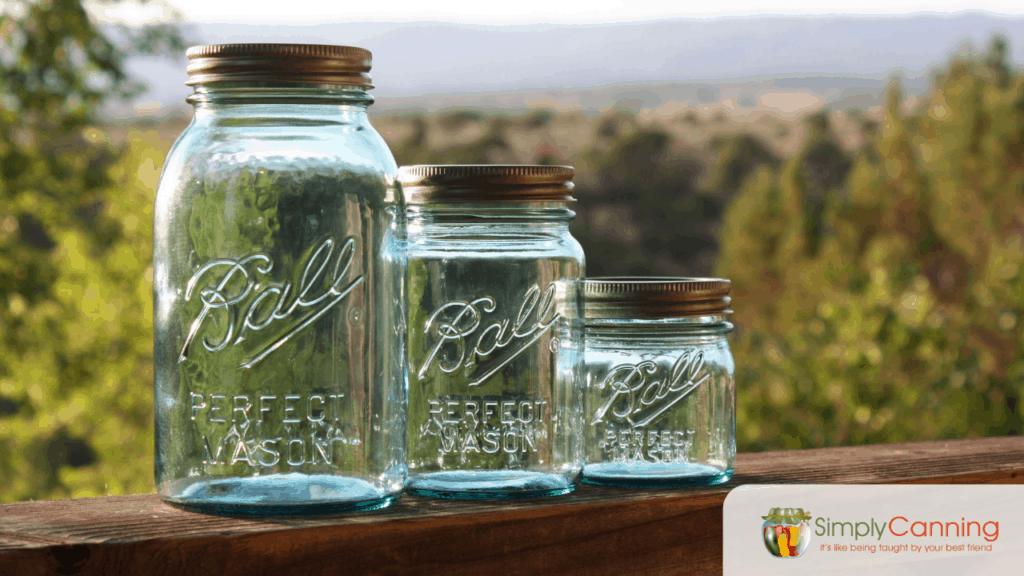 Beautiful aqua canning jars!