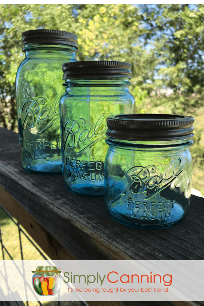 Another view of canning jars.