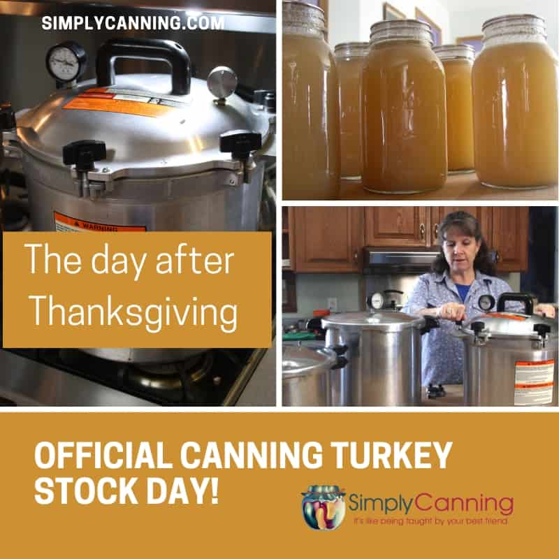 The day after Thanksgiving - Official canning turkey stock day! :)