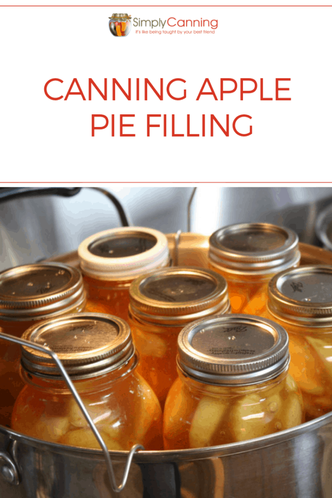 Canning apple pie filling pin