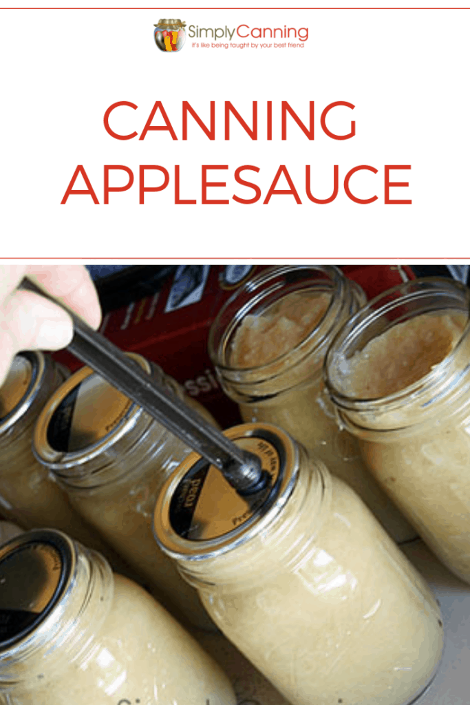 Canning applesauce pin