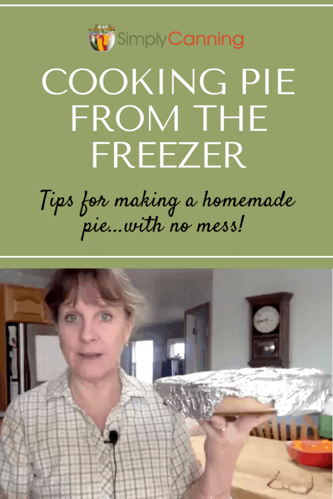 Cooking pie from the freezer pin