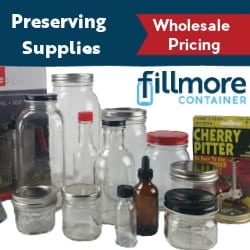 Image of canning jars supplies and link to Fillmore Container.