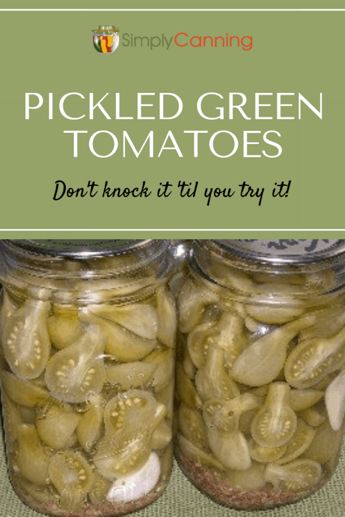 Pickled green tomatoes pin1