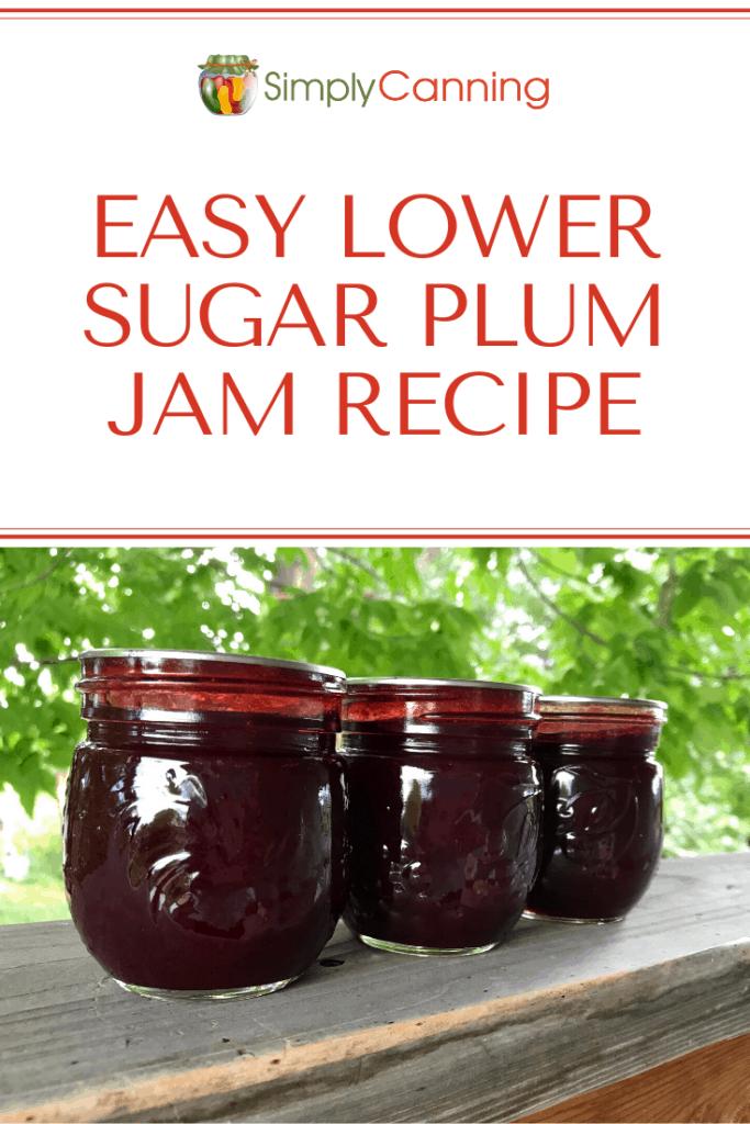 Easy Lower Sugar Plum Jam Recipe