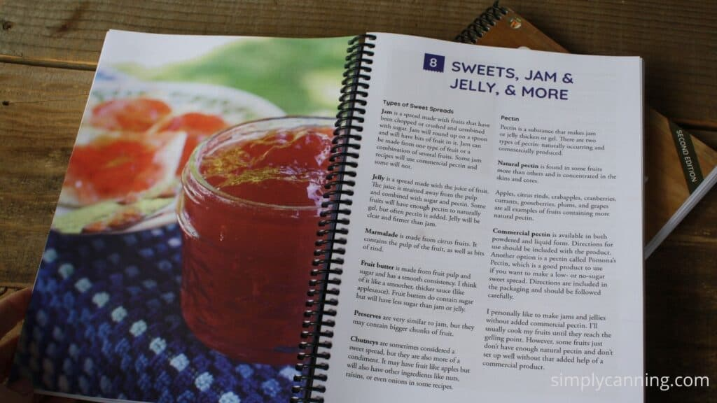 Jam pages inside the Simply Canning Guide.