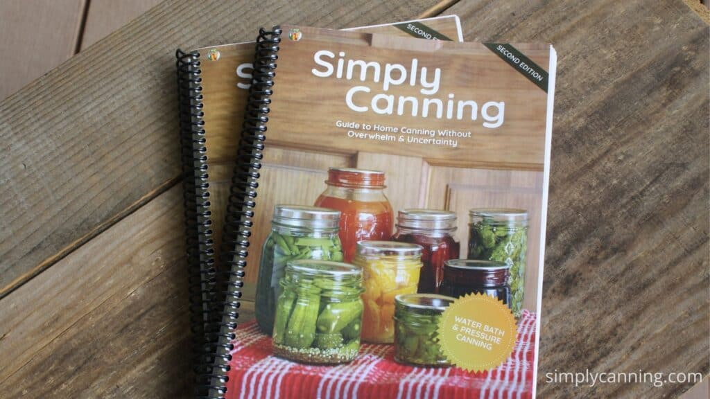 Spiral bound Simply Canning Guide books.