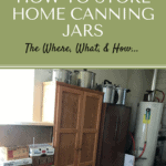Storing Filled Home Canning Jars Pin1