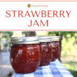 Jars of Strawberry jam.