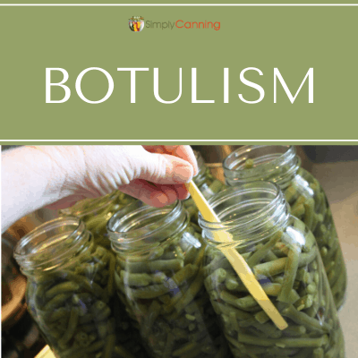 Packing green beans (low-acid food) into canning jars.
