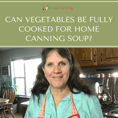 Sharon talking about vegetables and home canning soup.