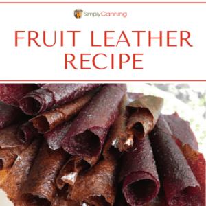 Fruit leather recipe