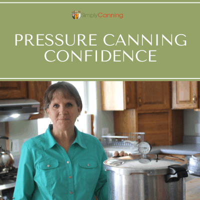 Sharon standing beside the presto pressure canner