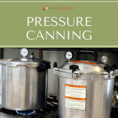 Presto and All American Pressure Canners on a stovetop.