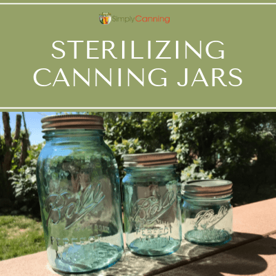 Empty large, medium, and small canning jars.