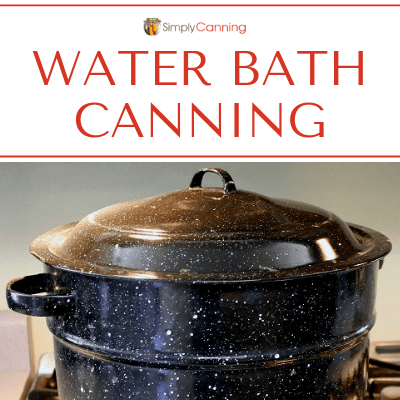 Graniteware water bath canner.