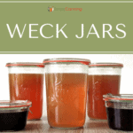 Weck jars filled with food.