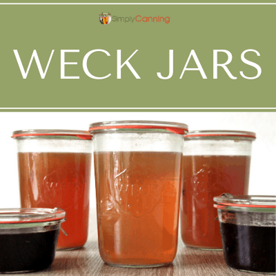Filled Weck jars.