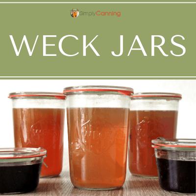 Filled Weck jars.