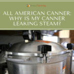 Looking close at the lid of the All American Pressure Canner.