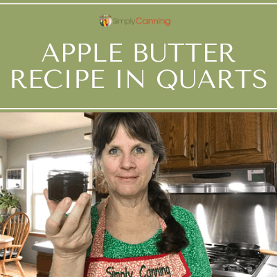 You're making an apple butter recipe. What sized jar (quarts, pints...) should you use for canning? SimplyCanning.com answers this question.