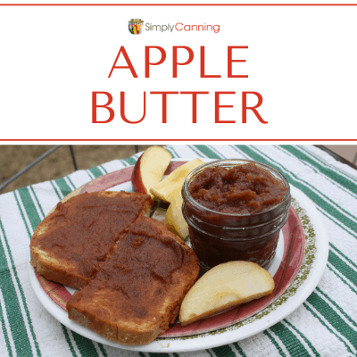 Toast slathered with delicious, rich apple butter!