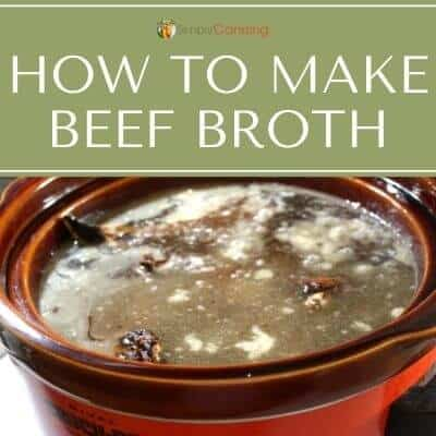 beef broth in a crockpot