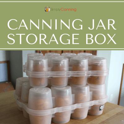 canning jar storage box