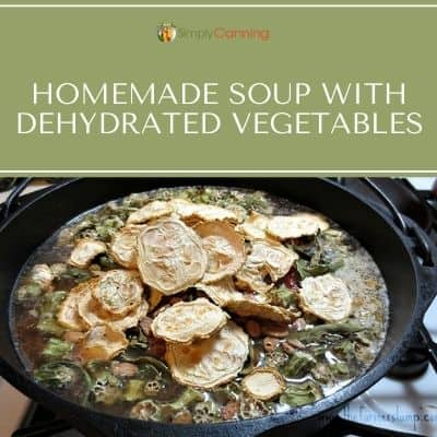 Homemade Soup with Dehydrated Vegetables
