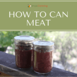 Two jars of home canned meat sitting next to each other.