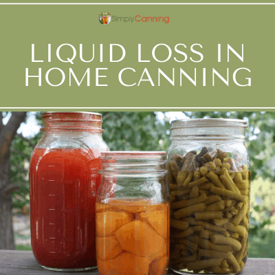 Jars of canned tomatoes, peaches or apricots, and green beans...all with liquid loss.