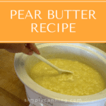 Featured image for pear butter recipe post.