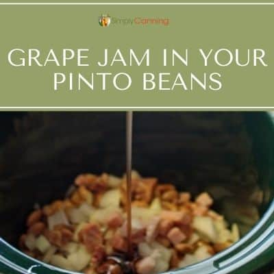 pinto beans with grape jam