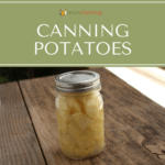 Pint jar of home canned potatoes.