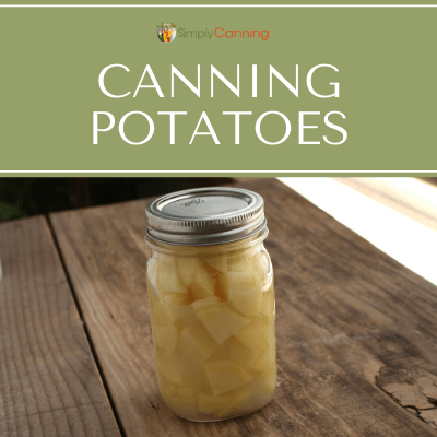 Jars of home canned potatoes.