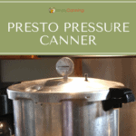 Looking at the dial on the top of the Presto pressure canner lid.