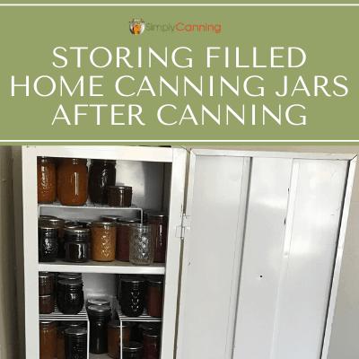 Canning jar storage.