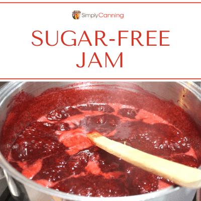Stirring a boiling pot of jam.