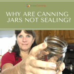 Sharon holding an empty glass canning jar.
