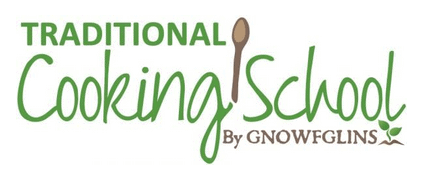 Traditional Cooking School By GNOWFGLINS logo.