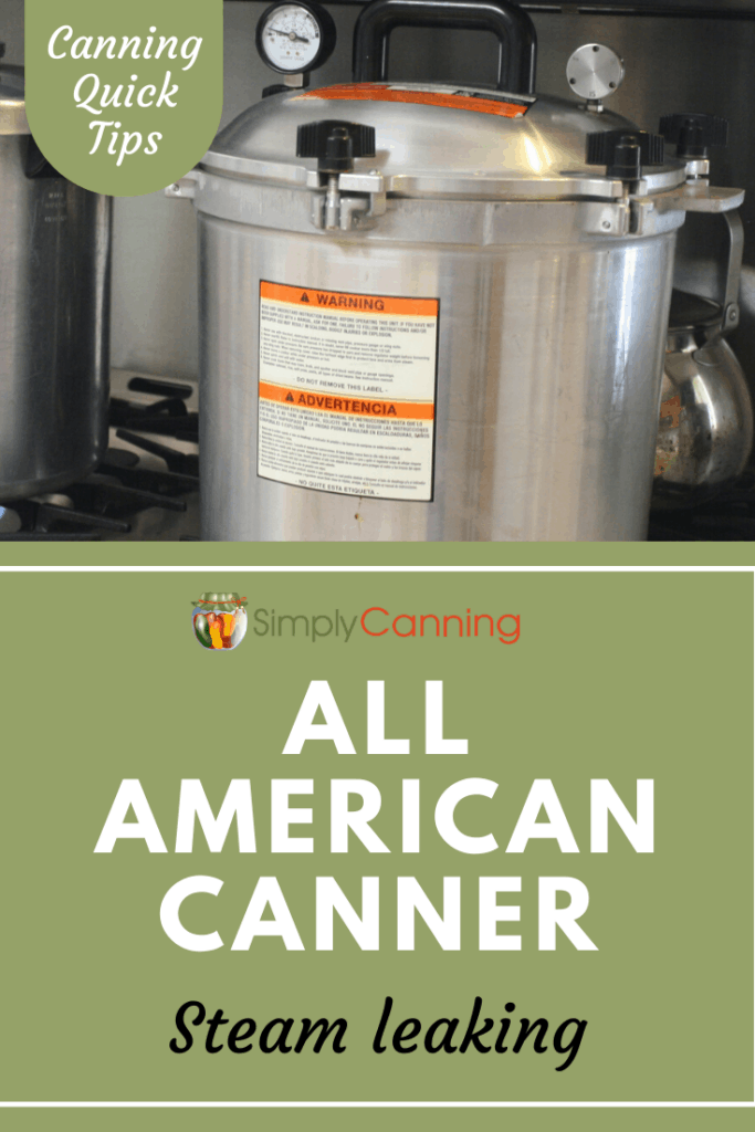 Suddenly notice your All American Canner is leaking steam around the lid? This is a common problem. Get ideas for what you can do about it at SimplyCanning.com