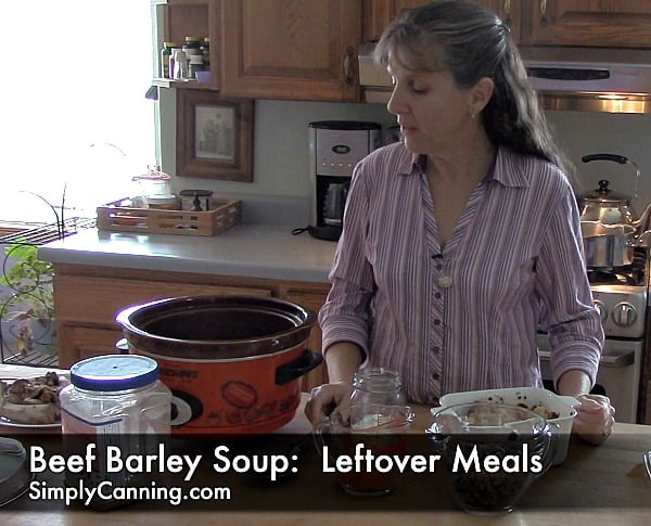 Beef Barley Soup Recipe: Homemade Beef Broth or Home-Canned Broth.