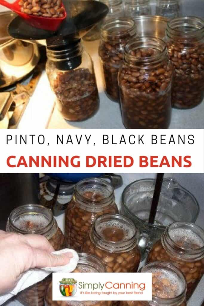 canning dried beans pin