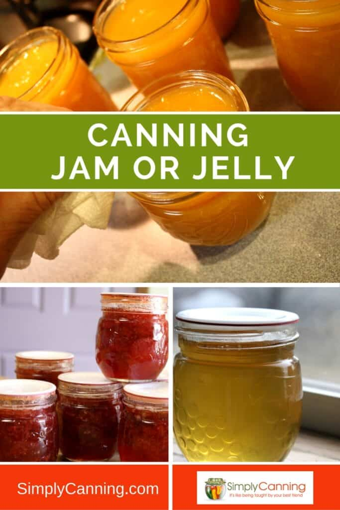 Jam or jelly canning is something that can be processed by water bath canner. Learn how to make, and preserve, the sweet spread so you can enjoy it year round at SimplyCanning.com. Recipes included!