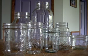 Kerr, Mason or Ball canning jars are all suitable jars for canning.