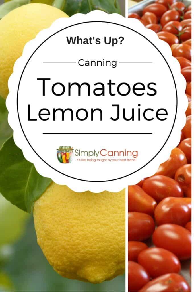 canning tomatoes lemon