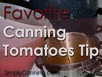 canning tomatoes tip