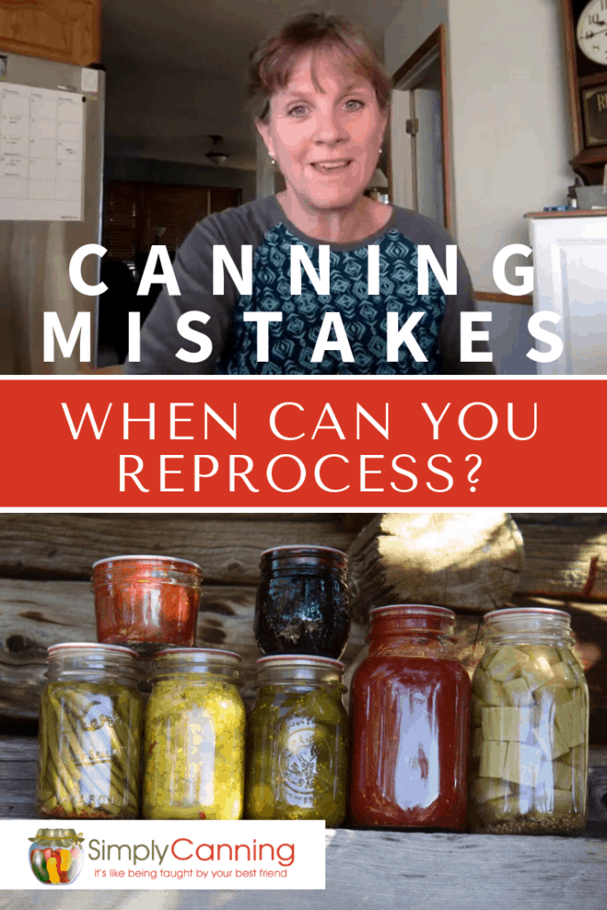 Canning mistakes happen sometimes, but how do you know when it's safe to just re-can it? Here's how to know if you should reprocess or just throw it away.