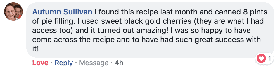 cherry pie testimonial